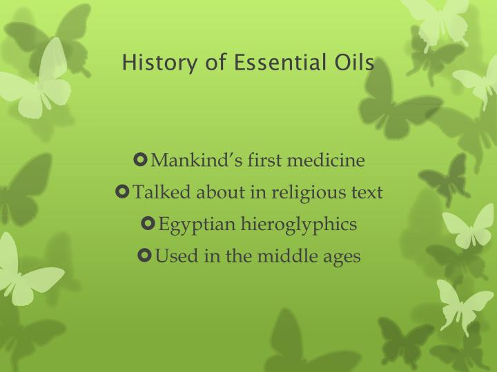 History of essential oils