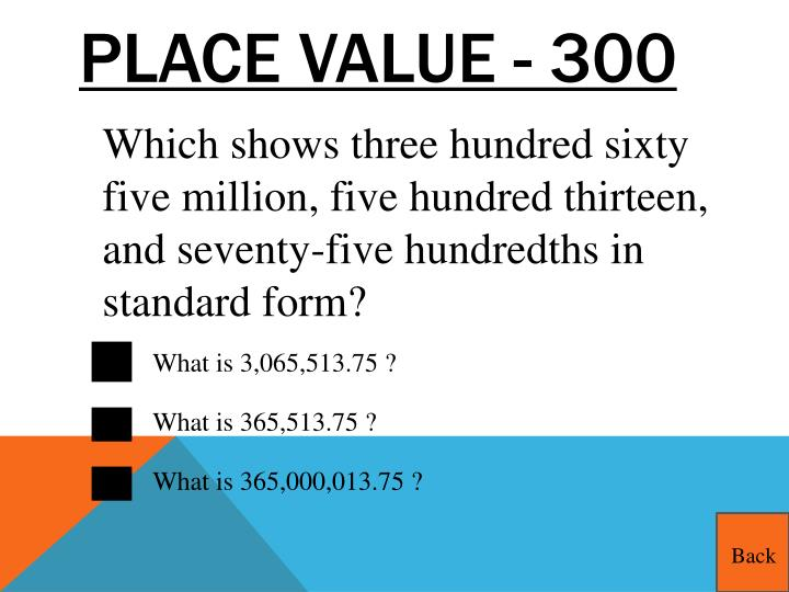 Place Value - 300