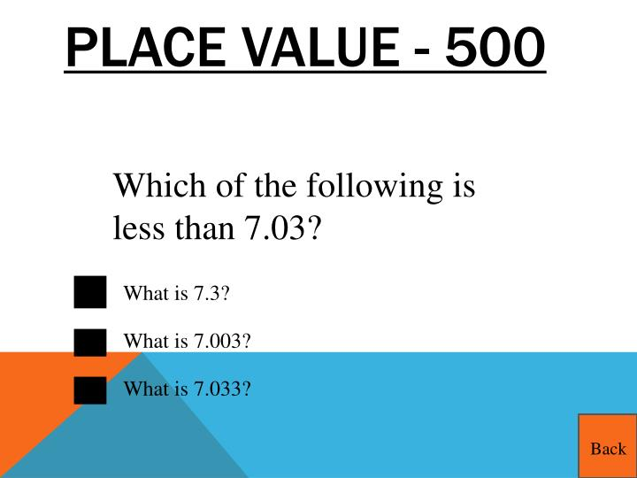 Place Value - 500