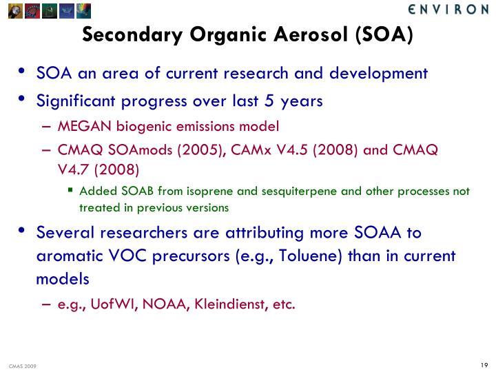 Secondary Organic Aerosol (SOA)