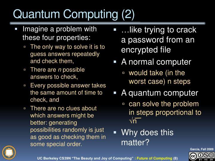 Quantum Computing (2)
