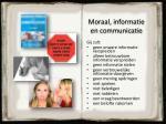 moraal informatie en communicatie