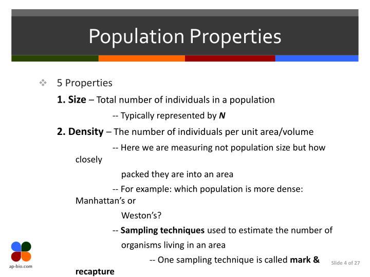 Population Properties