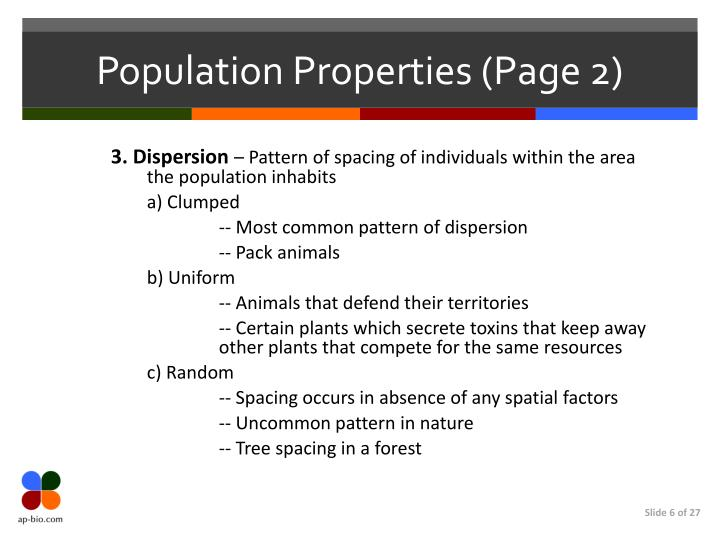 Population Properties (Page 2)