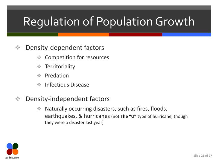 Regulation of Population Growth