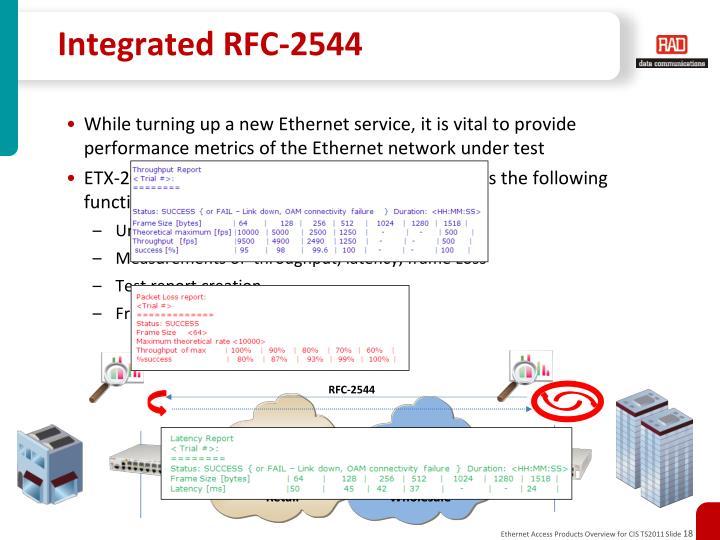 Integrated RFC-2544