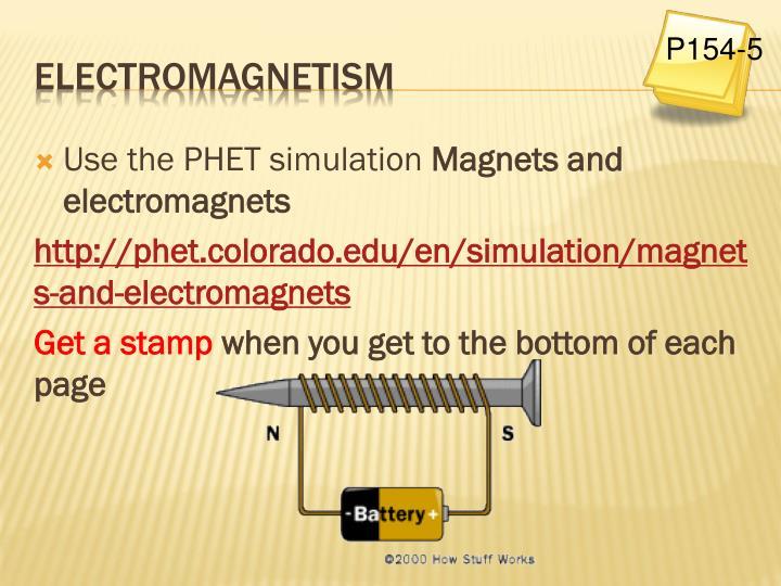 Use the PHET simulation