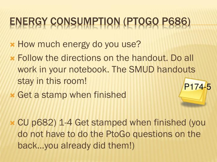 How much energy do you use?