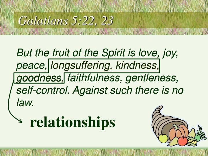 Galatians 5 22 23