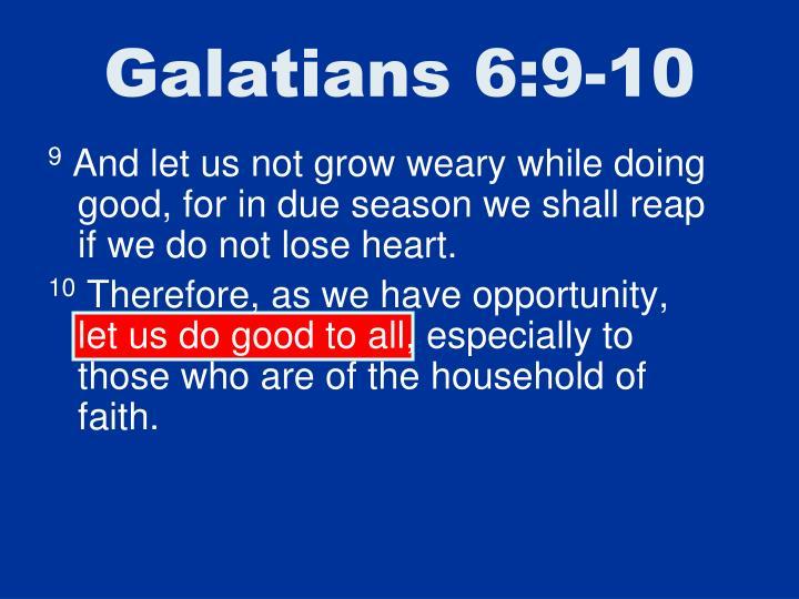 Galatians 6:9-10