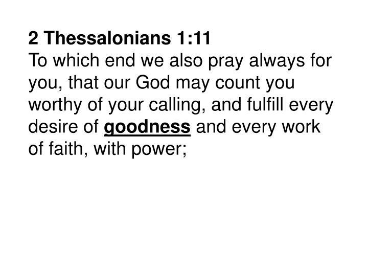 2 Thessalonians 1:11