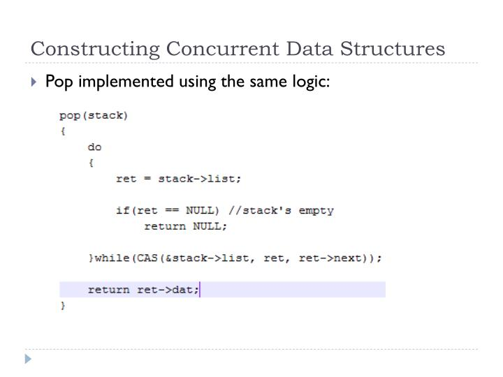 Constructing Concurrent Data Structures