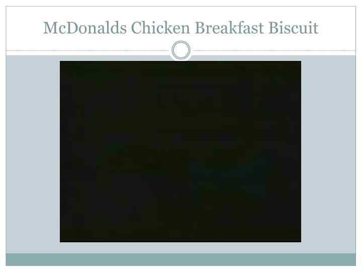 McDonalds Chicken Breakfast Biscuit