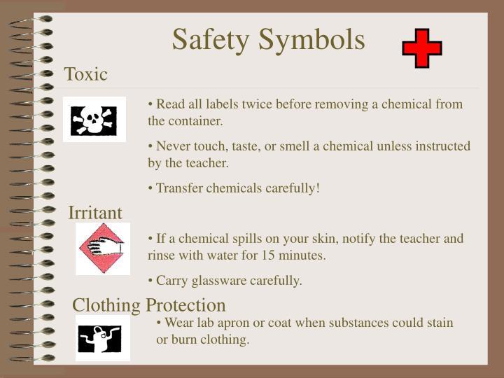 lab apron safety symbol