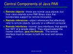 central components of java rmi