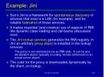 example jini