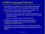 is rmi a language extension