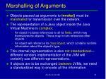 marshalling of arguments