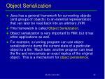 object serialization