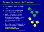 referential integrity is preserved