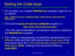 setting the code base