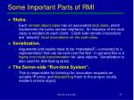 some important parts of rmi