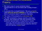 the java rmi server codebase property