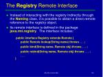 the registry remote interface