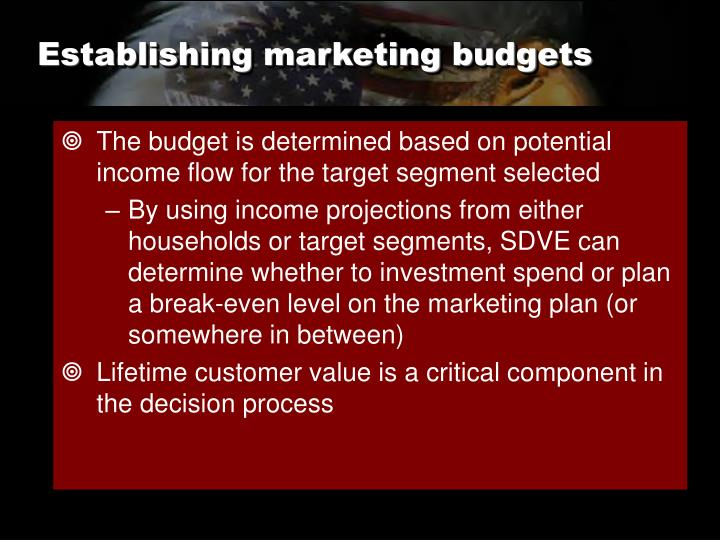Establishing marketing budgets