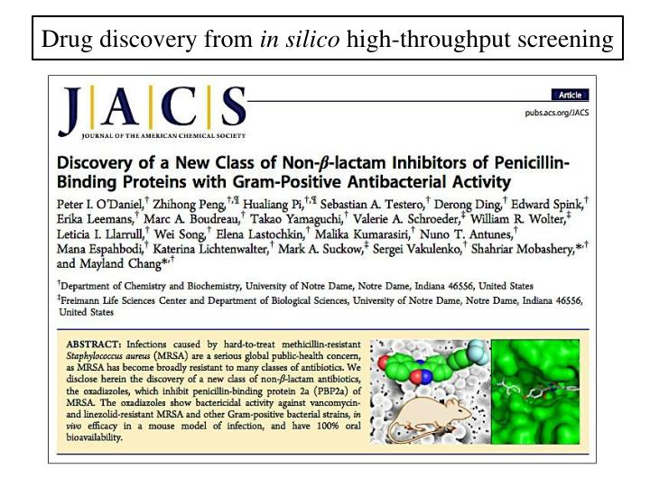 Drug discovery from