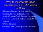 why to incorporate labor standards in an fta vision of chile