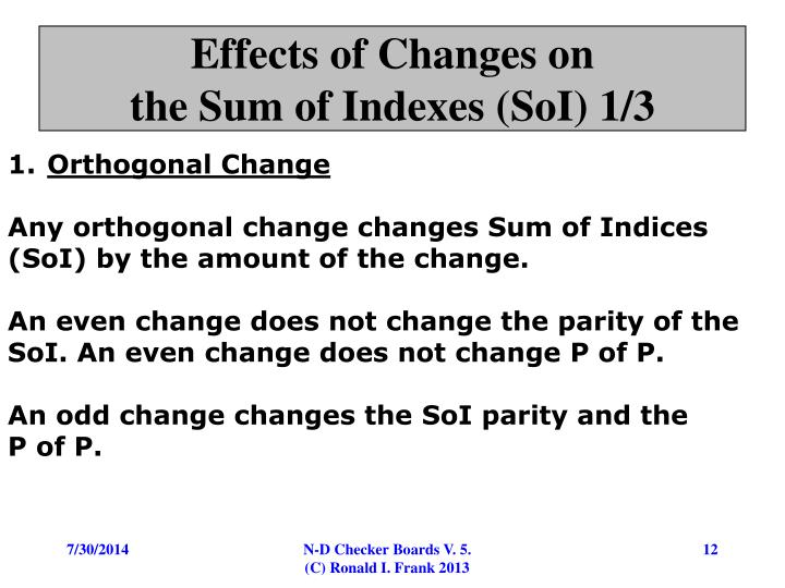 Effects of Changes on