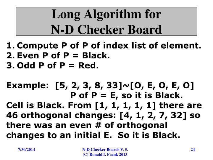 Long Algorithm for