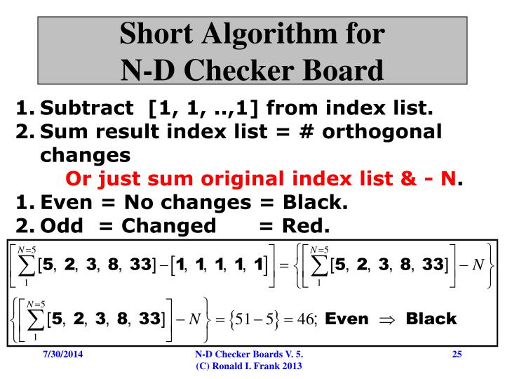 Short Algorithm for