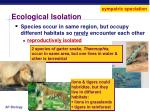 ecological isolation