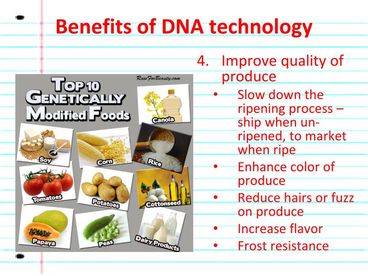 Benefits of DNA technology
