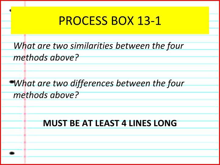 PROCESS BOX 13-1