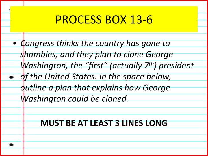 PROCESS BOX 13-6