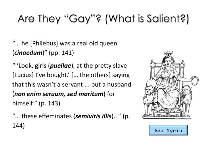 "Are They ""Gay""? (What is Salient?)"