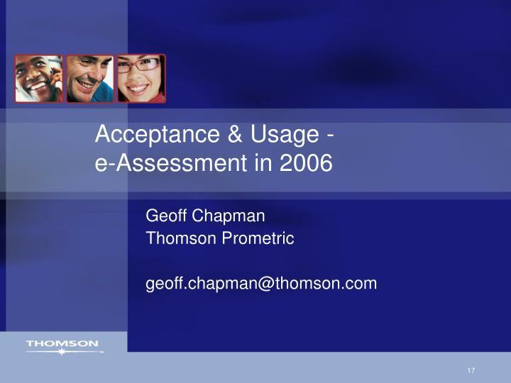 Acceptance & Usage -