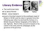 literary evidence