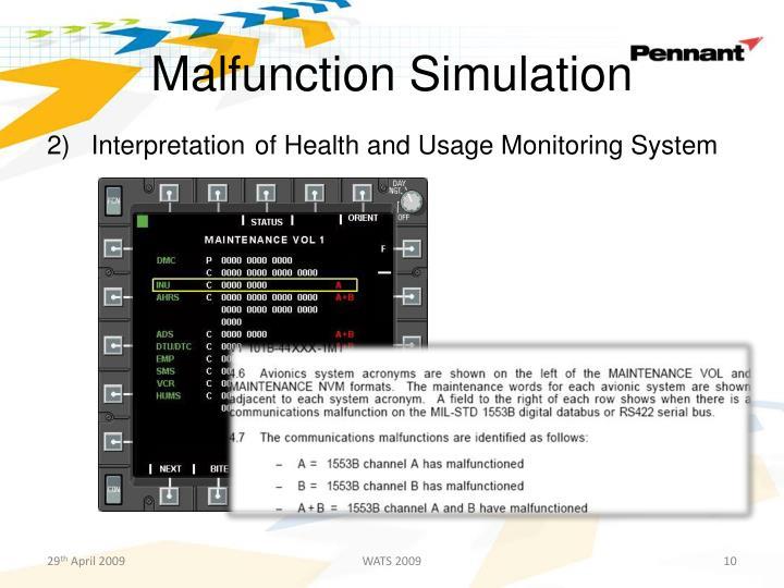 Malfunction Simulation