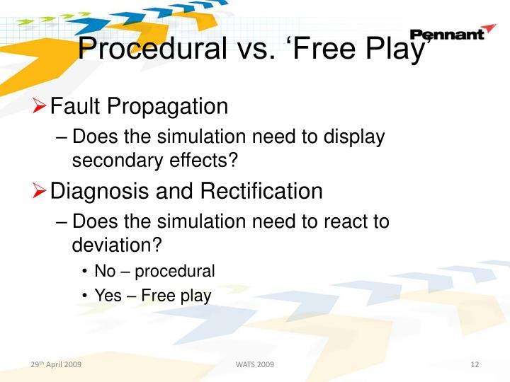 Procedural vs. 'Free Play'