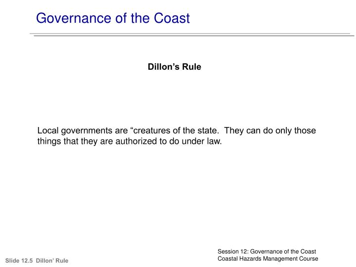 Governance of the Coast
