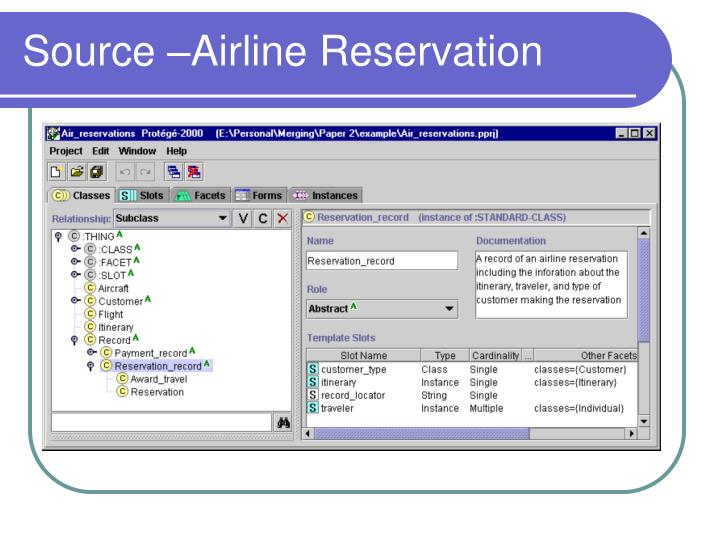Source –Airline Reservation