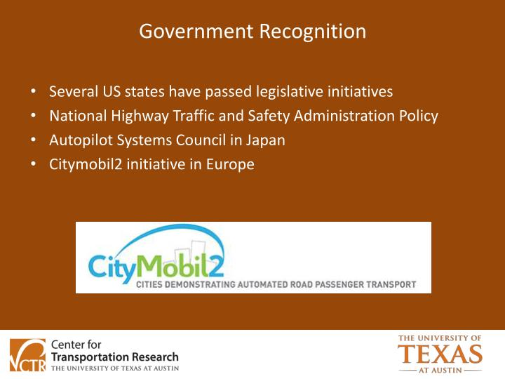 Government Recognition