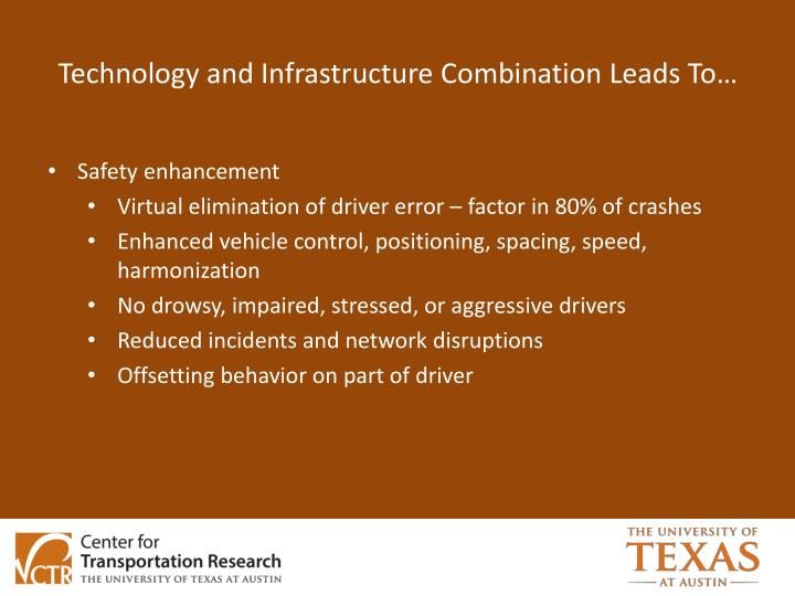 Technology and Infrastructure Combination Leads To…