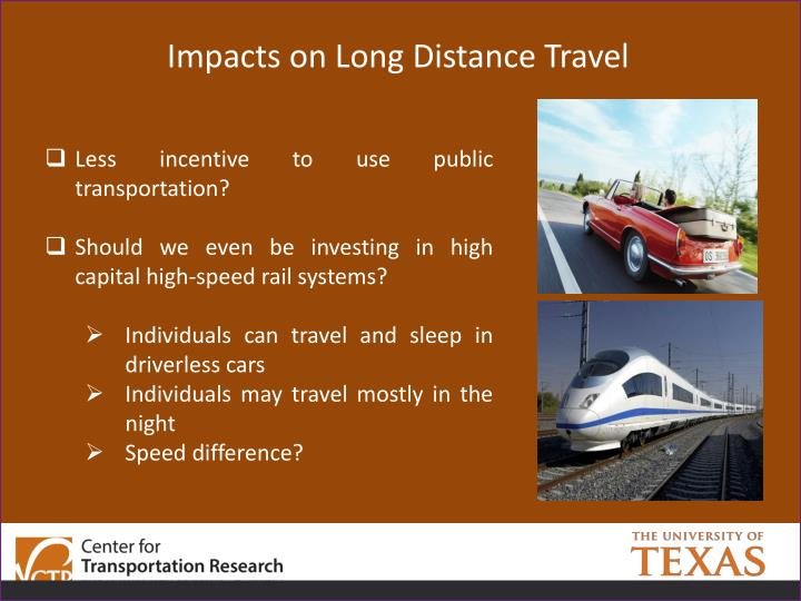 Impacts on Long Distance Travel