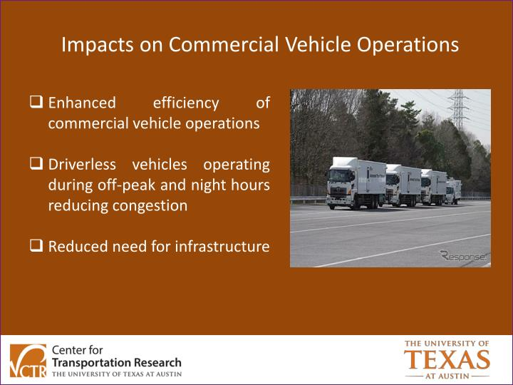 Impacts on Commercial Vehicle Operations