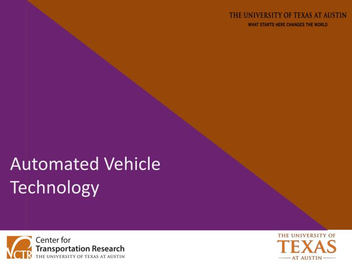 Automated Vehicle Technology